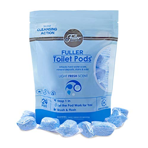 Fuller Brush Toilet Bowl Cleaner Pods - Water Soluble Tablet Cleansers - Cleans Descales and Refreshes Bathroom Toilets Removes Odors Soils and Stains Light Fresh Scent Ideal for Homes and Businesses