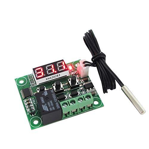 Placa controladora de Temperatura Digital W1209 Panel de termostato de Control de Temperatura con Sensor NTC de Alta precisión microelectrónico con sonda de Sensor Impermeable