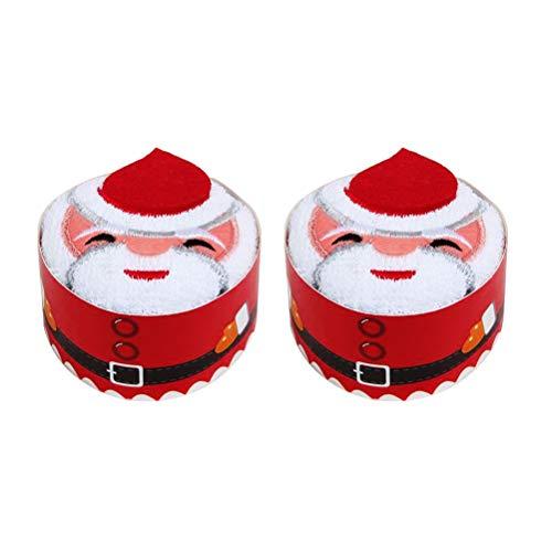 BESTOMZ 2 Piezas Navidad Toallas Mano Pastel Modelado