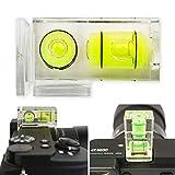 Cubierta para zapata de flash con nivel de burbuja, juego de 1 zapata de flash, adecuado para muchos modelos, cámara de nivelación, cubierta protectora para zapata de flash, nivel de burbuja