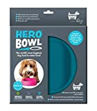 hownd Hero Dog Bowl Pet Products- Antimicrobial Dog Bowl - Actively Kills Microbes, Such as Bacteria, Mold and Fungi, up to 99.99% on Bowls Surface- Hygienic Dog Bowl (Small, Ocean Blue)