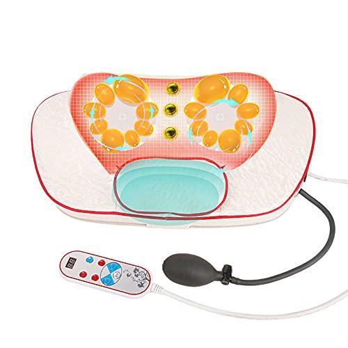 Almohada de masaje de hombros y cintura, almohada de terapia magnética, almohada de masaje de amasamiento inteligente, almohada de columna cervical, masajeador de varias partes/B / 43×13×26cm