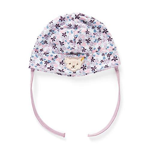 Steiff Baby - Mädchen Mütze , Weiß (BRIGHT WHITE 1000) , 47 (Herstellergröße:47)