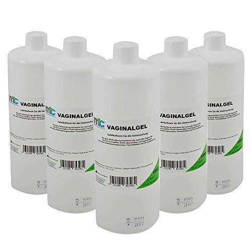 5x 1000 ml MC24® Vaginal Kontaktgel Ultraschallgel Gleitgel Untersuchungsgel Gynäkologie Übertragungsgel Gel