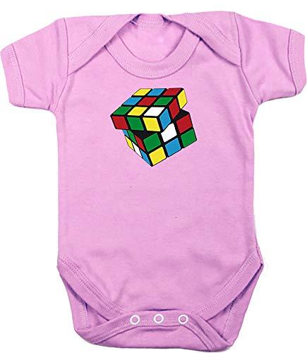 Camisetas EGB Body Bebé Cubo Mágico ochenteras 80´s Retro (6 Meses, Rosa)