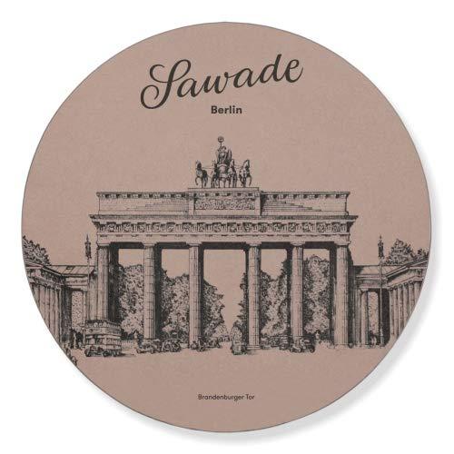 Sawade Bonbonniere mit Pralinen - Brandenburger Tor Motiv - Handgemacht in Berlin - 30 hochwertige Pralinen