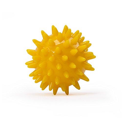 Kleiner Noppenball, Igelball mit 5 cm Durchmesser (safran-gelb) Massageball für Selbstmassage, Reha & Fitness, Reflexzonen - auch als Set verfügbar