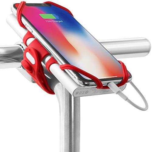 Bone Collection Smartphone und Powerbank Halter Fahrrad Bike Tie Pro Pack Rot, 13,4 x 6,5 x 4,8 cm