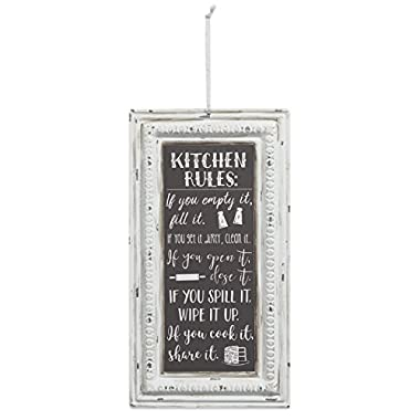 Brownlow Gifts Pressed Tin Sign, Rules