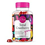 Pink Stork Total Cranberry Gummies: Urinary Tract Health Support, UTI Relief, Detoxification, Immune Support, Digestion, 60 Cranberry Flavored Fruit Juice Gummies