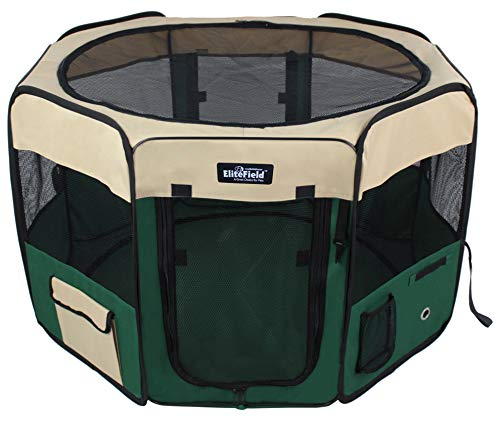 EliteField 2-Door Soft Pet Playpen, Exercise Pen, Multiple Sizes and Colors Available for Dogs, Cats and Other Pets (52