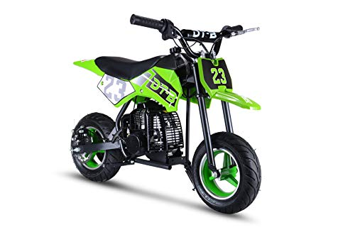 Hoverheart Mini Gas Power Dirt Bike, Motorcycle Ride-on 51cc 2 Stroke (Oil Mix Required) (Green)