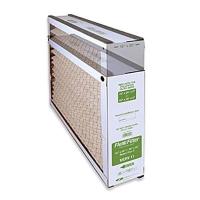 """Field Controls 46600401 Model 2 Merv 11 HVAC Flex Filter, 16"""" x 25""""/20"""" x 25"""", Green"""