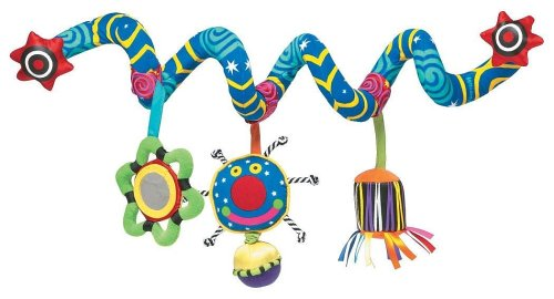Manhattan Toy Poussette à spirale et jouet de voyage Whoozit Activity