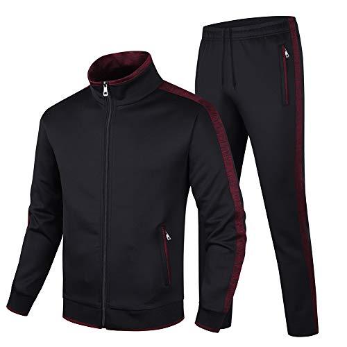 Guanzizai Men's Casual Tracksuit Long Sleeve Sweatsuit Athletic Set Full Zip Running Jogging Sports Jacket and Pants