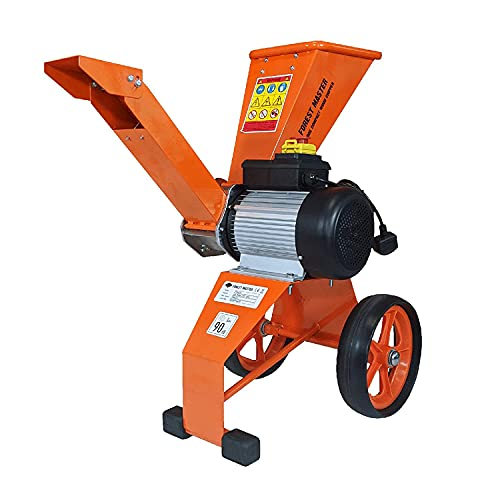 Forest Master Garten Holzhacker 4 PS Direktantrieb 2800 W Elektromotor Holzhackmaschine hackt Äste bis zu 50 mm Durchmesser Leistungsstark kompakt