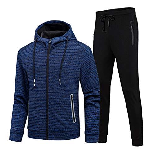 Herren Sport Anzug Herbst Sportbekleidung Herren Laufanzug Schnell trocknend Fitness-Anzug Gym lässige Sportswear (Color : 1, Size : XXL)