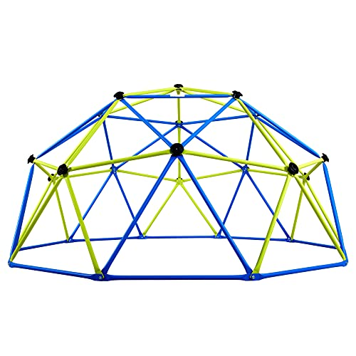 ALBOTT GEOMETRIC DOME CLIMBER - 야외 어린이들이 1-6명의 어린이들을 위해 800파운드 무게의 안전을 갖춘 러스트 및 UV 저항성 강철 프레임 등반 돔으로 정글 체육관을 연주함(11FT)