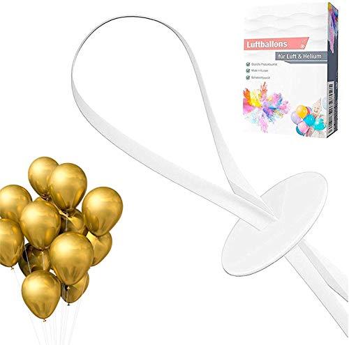 TK Gruppe Timo Klingler Ballonverschlüsse für Luftballons in 15 Sekunden - Schnell & Einfach - Ballonverschluss Ballonbänder Luftballons Helium & Luft, transparent (100x)