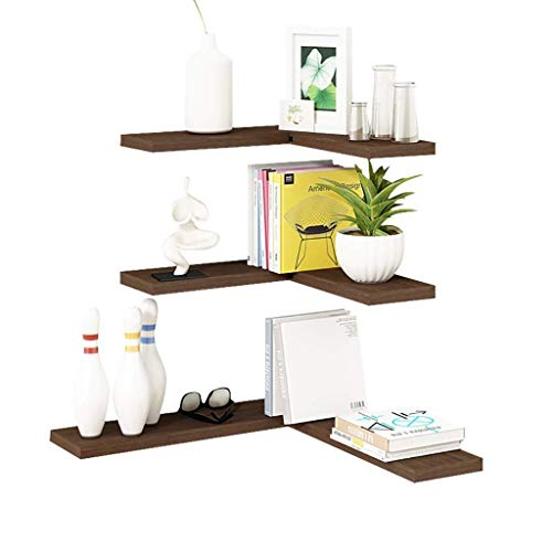 CHOUCHOU Shelves Bookshelf Solid Wood Wall Shelf Nordic Living Room Corner Shelf Book Stand Bedroom Wall Hanging Wall Word Partition Wall Units Bookcases,B,Colour Name:A Flower Pot Rack (Color : B)