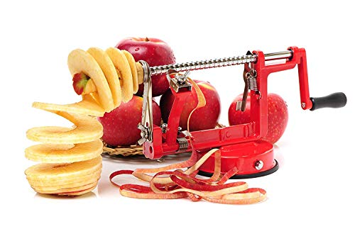 Impeccable Culinary Objects (ICO) Pèle Pommes Professionnel en Fonte Rouge