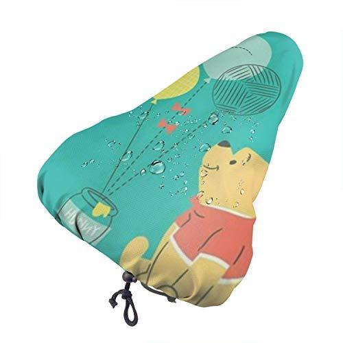 DNBCJJ - Coprisedile per bicicletta, motivo: Winnie the Pooh, impermeabile, resistente alla polvere, per attività all'aperto