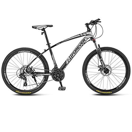 WSJ MTB 26' Ruedas Offroad Bicicleta de montaña cuadro de acero carbono rueda delantera amortiguación horquilla doble freno bicicleta bicicleta de carreras, color D, tamaño 21 speed