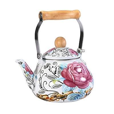 TeekannenTeapot 1.5L Émail Épais Pot Bouilloire Théière Cruche Médecine Chinoise Pot Induction Cuisinière Gaz