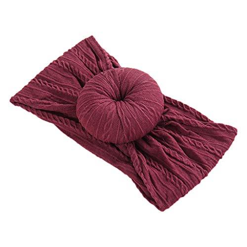 VIccoo hoofdband, baby peuters donuts turban haarband hoofd wikkelen elastische zachte schattige twist Head Wrap accessoires hoofdwear - 9
