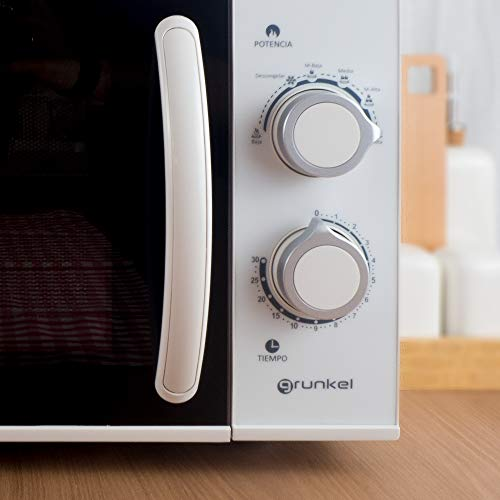 Grunkel - Microondas blanco de 25 litros de capacidad y 900W. 6 ...