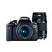 Canon EOS Rebel T6 Digital SLR Camera Kit with EF-S 18-55mm and EF 75-300mm Zoom Lenses (Black) (Renewed)