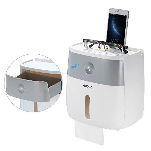 Galapara Porte-Papier Toilette, Distributeurs de mouchoirs, Auto-adhésif Distributeur de Papier hygiénique Mural Étanche pour Papier à Plis Multiples, Papier Rouleau