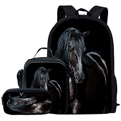 Renewold Pack de 3 unidades de mochila escolar para niños, bolsa de almuerzo escolar