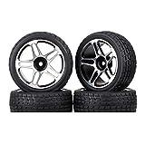 Juego de Neumáticos y ruedas RC 12 Hex Drive Hub Drift Flat Sports Car Neumáticos para Redcat HSP...