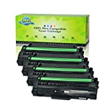 NineLeaf Compatible Toner Cartridges High Yield Replacement for 105L MLT-D105L MLTD105L ML1910 ML-1910 ML-2525W ML-2525 ML-2545 ML-1915 SCX-4623F SCX-4623FW SCX-4623FN SF-650 (Black,4 Pack)