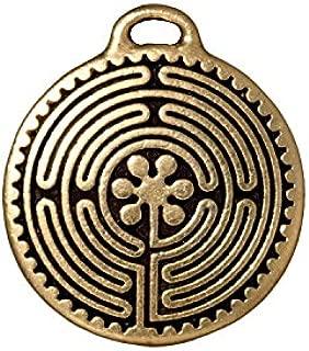 TierraCast Labyrinth Disc Charm