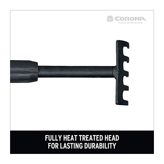 Corona GT3090 GT 3090 Extendable Handle 3-Tine Hoe 2 Ideal tool for yard work when proper posture maintenance is a must Lightweight aluminum handles can be easily adjusted between 18 and 32 inches Chip-resistant carbon dioxide coating helps eliminate corrosion and rust