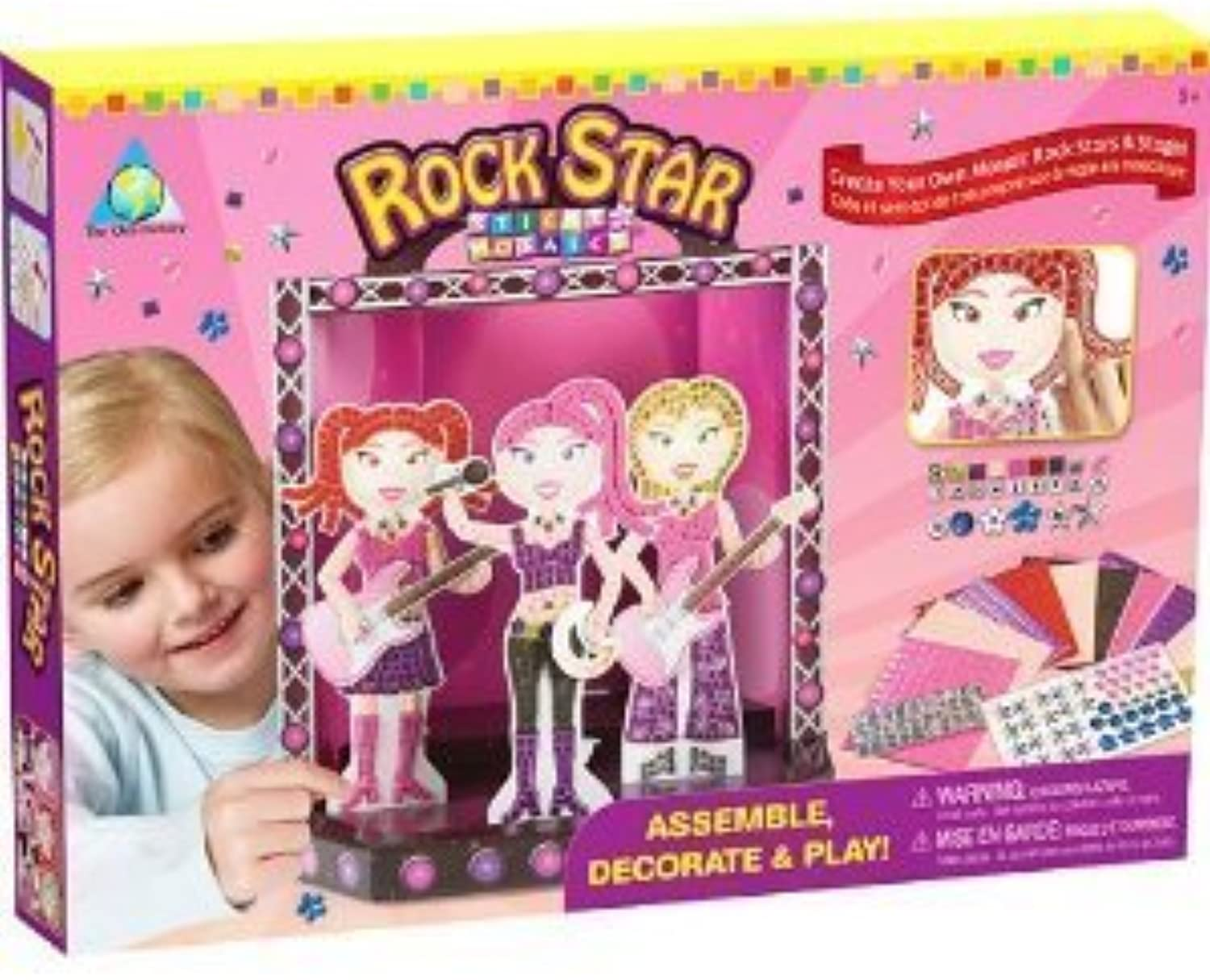 Rock Star Sticky Mosaics [Toy] by The Orb Factory