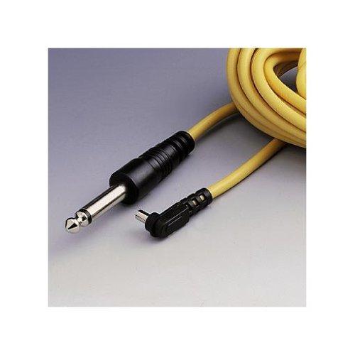 Hama Blitzkabel für Studioblitzgeräte, Synchronkabel mit PC-Stecker, Länge: 5 m, Profi, Gelb