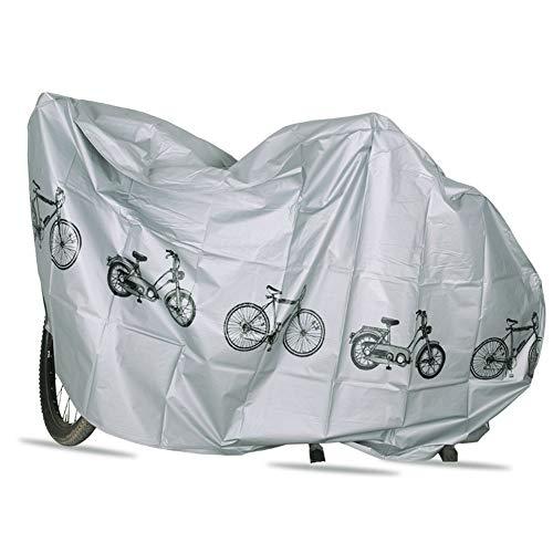 Nicejoy Cubierta De La Bici, Cubiertas De Bicicleta para Almacenamiento En El Exterior, Polvo Lluvia Protección UV Cubierta Impermeable Al Aire Libre De La Bicicleta Cubierta Gris