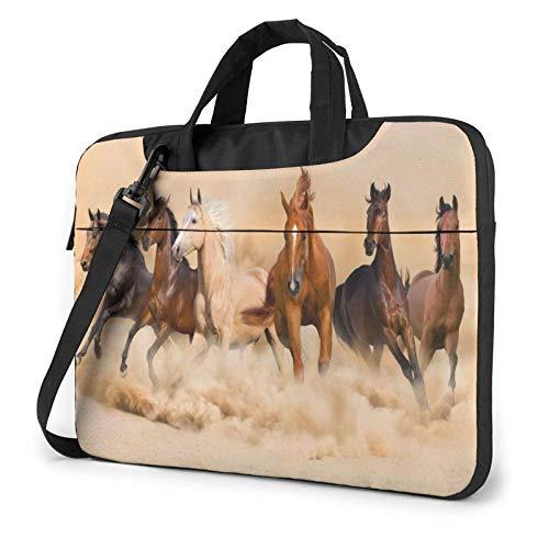 Running Horse In Desert Sand Storm Laptop Sleeve 14 Inch Stylish Cute Neoprene Notebook Handbag