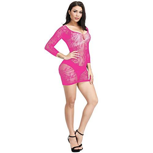 MAWOLY Mesh Einfarbig Kurzer Rock Eng Anliegenddessous Sets Body Rückenfrei Damen Bodysuit Reizunterwäsche Spitze Dessous Unterwäsche öffnen Zurück Nachtwäsche Damen Panties Spitzen