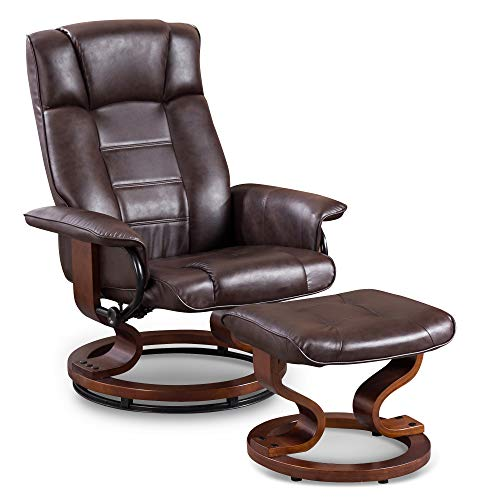 Mcombo Recliner with Matching Ottoman