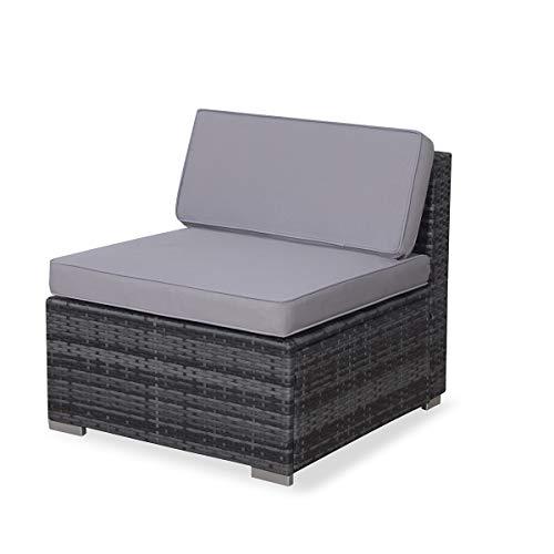 SVITA Lugano Poly Rattan Lounge Garten-Set XXL Sofa-Set Garnitur Gartenmöbel Couch-Set (XXL, Grau) - 6