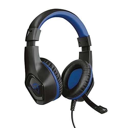 Trust Gaming Headset GXT 404B für PS4 und PS5 - Rana Kabelgebundene Gaming-Kopfhörer mit Flexibles, Abnehmbares Mikrofon und Einstellbarer Kopfbügel für Playstation 4 und 5 - Blau
