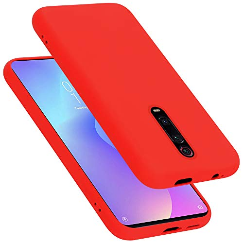 Cadorabo Funda para Xiaomi 9T/K20/K20 Pro en Liquid Rojo - Cubierta Proteccíon de Silicona TPU Delgada e Flexible con Antichoque - Gel Case Cover Carcasa Ligera