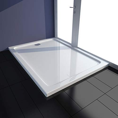 vidaXL Plato de ducha ABS blanco 80x100 cm
