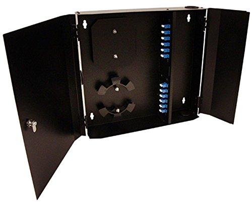 Wall Mount Fiber Patch Panel, 24 Port, Single Mode LC Duplex