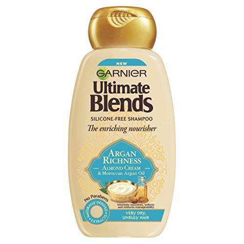 Garnier ultimo miscele di olio di argan e mandorla crema Dry Hair shampoo, 250ml, confezione da 6