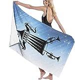 BAOYUAN0Toalla de Playa xxlToalla de baño Toallas de Playa Grandes y Ligeras con Sonidos de Baile 80*130cm Accesorios de Camping Manta de Picnic